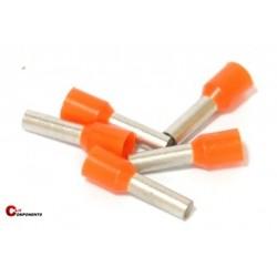 Końcówka tulejkowa PKE418 pomarańczowa / 100szt.