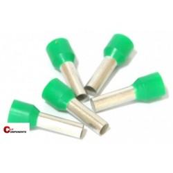 Końcówka tulejkowa PKC1618 zielona / 100szt.