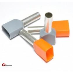 Tulejka izolowana podwójna- 2x4 mm2 / 100 szt.