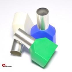 Tulejka izolowana podwójna- 2x16 mm2 / 50 szt.