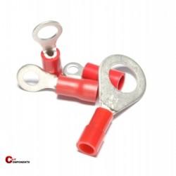 Końcówka oczkowa izolowana PVC 0,5-1,5 mm czerwony / 1000 szt.