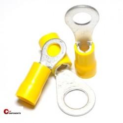 Końcówka oczkowa izolowana PVC 2,5-6 mm2 żółty / 1000 szt.
