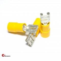 Nasuwka izolowana PVC 2,5-6mm żółty / 1000 szt.