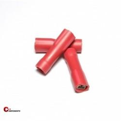 Nasuwka całkowicie izolowana PVC 0,5-1,5 mm czerwony / 1000 szt.