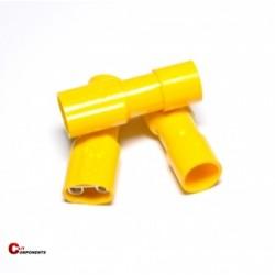 Nasuwka całkowicie izolowana PVC 2,5-6 mm żółty / 1000 szt.