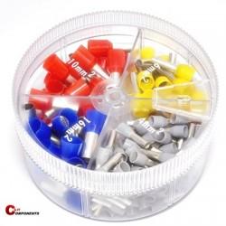 Zestaw tulejek izolowanych w pudełku 0,5-2,5mm2