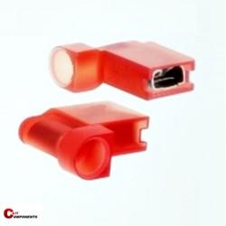 Nasuwka izolowana PVC 0,5-1,5 mm czerwony/ 1000 szt.