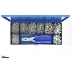 Zestaw tulejek nieizolowanych 0,75-16 mm² z zaciskarką ręczną