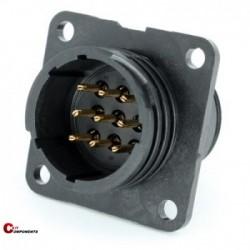 Złącze panelowe Toughcon na 9-pinów męskich - TT1730-P09