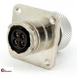Złącze panelowe Toughcon na 4-piny żeńskie - TM1131-S04