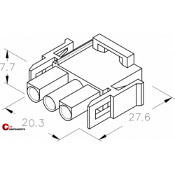 UP-Lok Obudowa 3pol męska 2215310