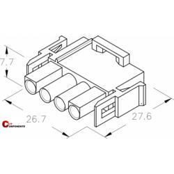 UP-Lok Obudowa 4pol męska 2215410