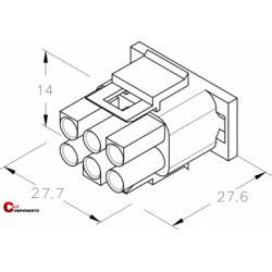 UP-Lok Obudowa 3+3pol męska 2215510