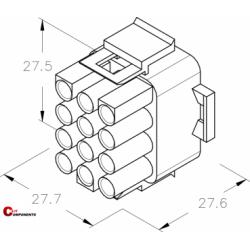 UP-Lok Obudowa 12pol męska 2217210