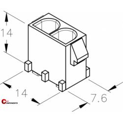 UP-Lok 2pol żeńska PCB 2210210