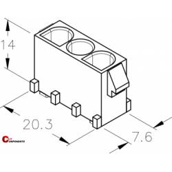 UP-Lok 3pol żeńska PCB 2210310